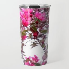 FLOWERING PINK CRABAPPLE TREES SPRING FLORAL Travel Mug