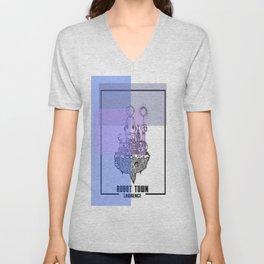 Robot Town color Unisex V-Neck