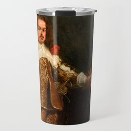 "Diego Velázquez ""Portrait of a Buffoon with a Dog"" Travel Mug"