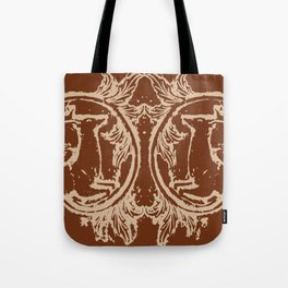 Chocolate Asheville Stags a Leaping Tote Bag