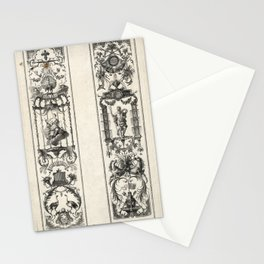 Mois grotesques par bandes Stationery Cards