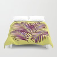 palms Duvet Covers featuring Palms by  Agostino Lo Coco
