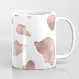 Rose gold cow print Coffee Mug