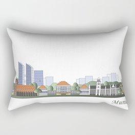 Munich skyline colored Rectangular Pillow