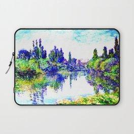 Claude Monet - Morning on the Seine, near Vetheuil 1878 Laptop Sleeve