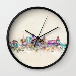 rome skyline vintage Wall Clock
