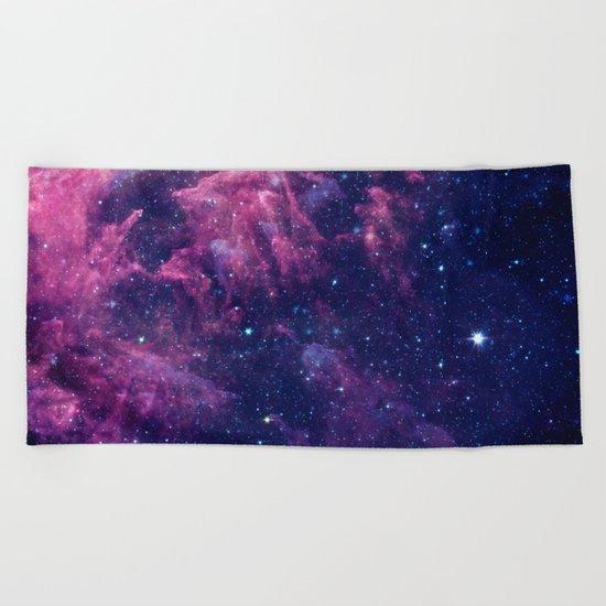 Space nebula Beach Towel