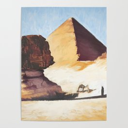 The Great Sphinx And Pyramid Poster