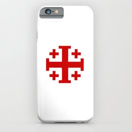 Jerusalem Cross 8 iPhone Case