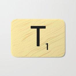 Scrabble T Initial - Large Scrabble Tile Letter Bath Mat