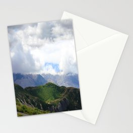 Saint Under The Clouded Sky Stationery Cards
