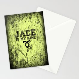 """""""JACE IS MY KING"""" Shadowhunters Design Stationery Cards"""