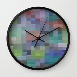 Abstract pixel pattern Wall Clock