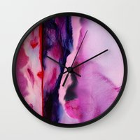 aurora Wall Clocks featuring Aurora  by Nikki Neri