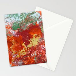 Red Bubbles  Stationery Cards