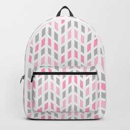 Pink Gray Mosaic Tile  Backpack