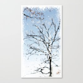 Winter white tree Canvas Print