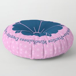 Practice Mindfulness Everyday VI Floor Pillow