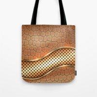 anaconda Tote Bags featuring Blingin Anaconda by Robin Curtiss