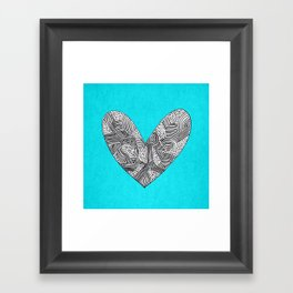 Patterned Heart Framed Art Print