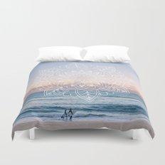Twilight surf mandala Duvet Cover