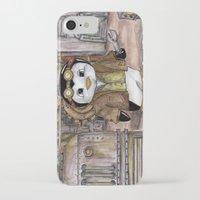 engineer iPhone & iPod Cases featuring Penguin Engineer by Tanya Davis Art