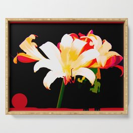 Multi-Color Lilies Serving Tray