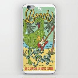Beach Rock Party iPhone Skin