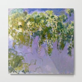 "Claude Monet ""Wisteria"", 1920 (left side) Metal Print"