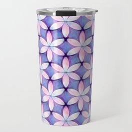 Daisies Pink Blue Travel Mug