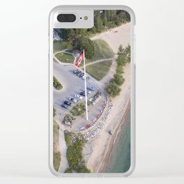 The big Flag Clear iPhone Case