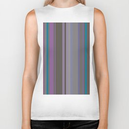Stripes in colour 14 Biker Tank
