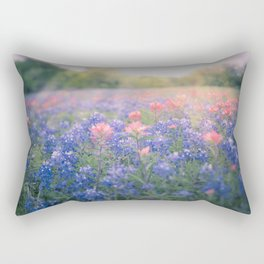 Texas Bluebonnets Rectangular Pillow