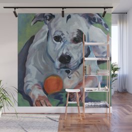 Staffordshire Terrier Dog Portrait Wall Mural