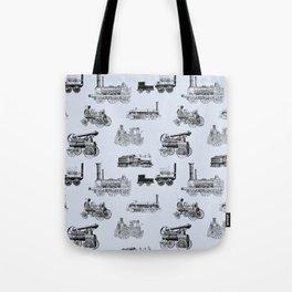 Antique Steam Engines // Steel Grey Tote Bag