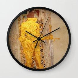 The Golden Knight - Gustav Klimt Wall Clock