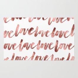Rose Gold Love Rug