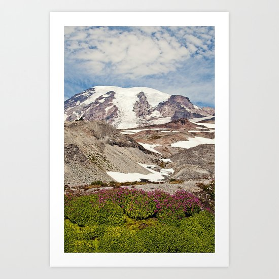 Mount Rainier Hike Art Print