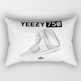 YEEZYS 750 Boost Sneakers Art Rectangular Pillow