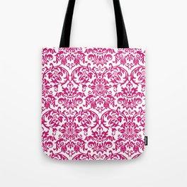Elegant Damask Pattern (fuchsia) Tote Bag