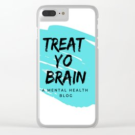 Treat Yo Brain Logo Clear iPhone Case