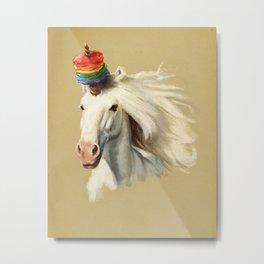 Rescue Unicorn Metal Print
