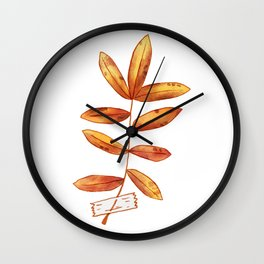 Fall Leaf-4 Wall Clock