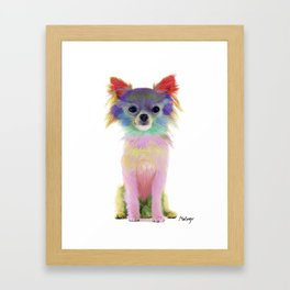 Colorful chihuahua Framed Art Print