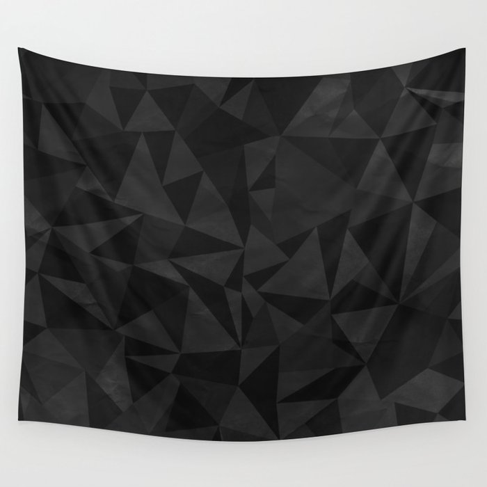 Dirty Dark Geo Wall Tapestry