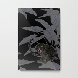 Black Panthers on Black. Metal Print