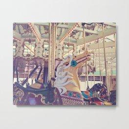 Boardwalk Carousel Metal Print
