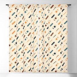 Vintage Vaccines - Small on Cream Blackout Curtain