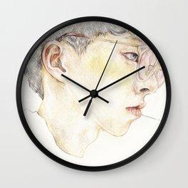 Blushing Yellow Wall Clock