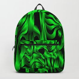 Magical flowing green avalanche of lines with dark. Backpack